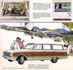 1963 Ford Falcon Squire Station Wagon