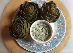 Cooking with Amy: A Food Blog: Artichokes with Creamy Spinach Dip Recipe