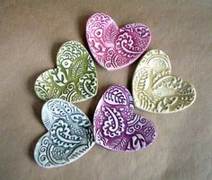 I love the texture of these Hearts.