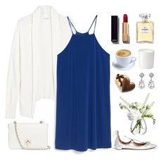 """Happy Australia Day "" by rever-de-paris ❤ liked on Polyvore featuring Aquazzura, American Vintage, MANGO, Tory Burch, Chanel, LSA International, The White Company, Kenneth Jay Lane, women's clothing and women's fashion"