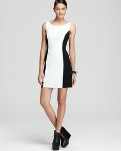 Aqua - Sleeveless Leather and Ponte Dress - $198.00 - Click on the image to shop now