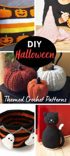 DIY Halloween Themed Crochet Patterns 100's of articles, patterns and ideas all about Crocheting for Halloween. #crochet #Halloween #freecrochetpatterns Crochet Skull Patterns, Halloween Crochet Patterns, Crochet Slipper Pattern, Crochet Patterns Amigurumi, Afghan Patterns, Crochet Faces, Free Crochet, Crochet Crafts, Crochet Coaster