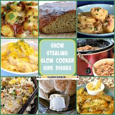 NEWLY UPDATED: Show-Stealing Side Dishes: 20 of the Best Slow Cooker Side Dish Recipes + Bonus Recipes (Printable recipes!)