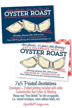 Oyster Roast Dinner Party Invitation