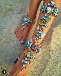 Foot Jewelry Leg Chain Boho Crystal Bracelet
