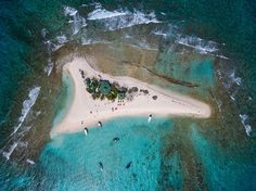 Picture of Sandy Island, Anguilla, from above