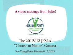 Watch the video and vote for your favorite leadership project! Pin now and vote before Feb. 15th!