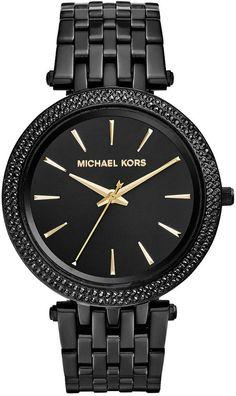 Michael Kors Women's Darci Black Ion-Plated Stainless Steel Bracelet Watch 39mm MK3337