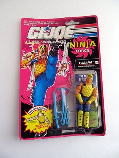 Vintage G.I. Joe Ninja Force T'JBang Figure 1991 by jujubeezgems