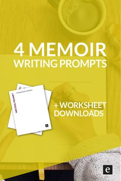4 Memoir Writing Prompts   Want to get a start on your story? Click through for 4 memoir writing prompts (and free worksheet downloads).