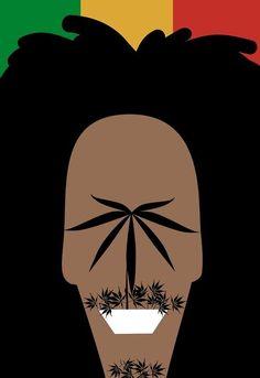 Bob Marley, ilustración de Noma Bar
