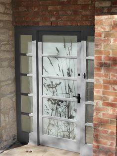 Etched Glass for a front door Front Door Entrance, Glass Front Door, Front Entrances, Glass Doors, Front Doors, Front Porch, Etched Glass Door, Frosted Glass Door, Glass Etching