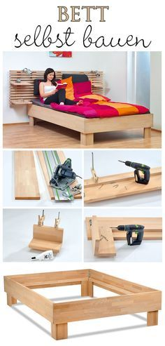 diy anleitung bett im skandinavisch schlichten stil bauen. Black Bedroom Furniture Sets. Home Design Ideas
