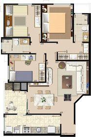 Meu primeiro lar doce lar foi constuido com muito sacrifício, era um apartamento de 60m num condomínio onde deveriam ter 15 blocos e ac...