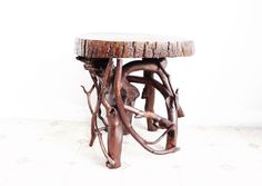 #Rustic #Driftwood Small Coffee Corner #Table Natural Wood Furniture by JKDriftwood