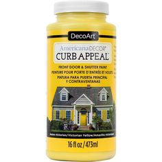 Deco Art Americana Curb Appeal Paint 16oz-Victorian Yellow - victorian yellow