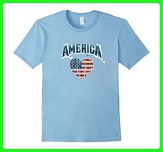 Mens USA Flag Shirt 4th of July Red White Blue Stars Stripes  Large Baby Blue - Holiday and seasonal shirts (*Amazon Partner-Link)