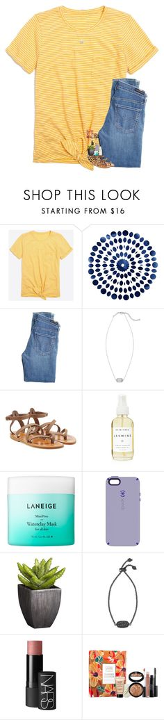 """Good morning!☀️"" by lovelyelegantgirl ❤ liked on Polyvore featuring J.Crew, Citizens of Humanity, Kendra Scott, K. Jacques, A Weathered Penny, Laneige, Speck, Crate and Barrel, NARS Cosmetics and Laura Geller"