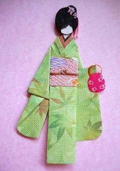 Japanese origami doll 8