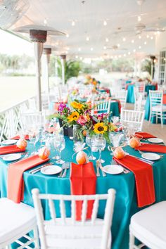 Red, Teal & Oh So Colorful Croquet Wedding Photographer: Crystal Bolin Photography