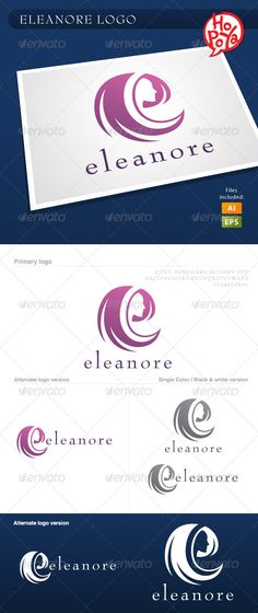 Eleanore - Logo Design Template Vector #logotype Download it here: http://graphicriver.net/item/eleanore-logo/1895237?s_rank=294?ref=nesto