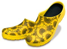 Womens All Weather Sunflower Yellow Clogs