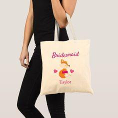 #bridesmaid - #Bridesmaid Fox and Hearts Tote Bag