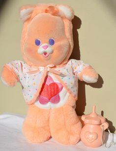 Vintage 1986 Baby Proud Heart Cat Cub Original Care Bear Complete Box Accessory   eBay