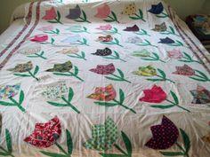 vintage tulip quilt - Google Search