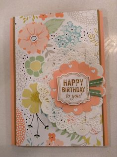Happy birthday stampin up card