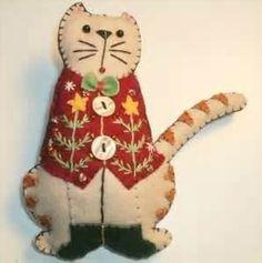 folk art christmas ornament