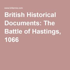 Malmesbury's Battle of Hastings