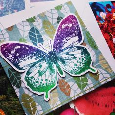 #butterfly greeting card #autumn themed