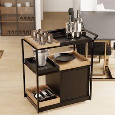 Folding Furniture, Modular Furniture, Metal Furniture, Contemporary Furniture, Coffee Bar Home, Coffee Corner, Serving Trolley, O Gas, Decoration Piece