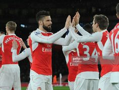 Olivier Giroud of Arsenal before the Barclays Premier League match between Arsenal and Swansea City at Emirates Stadium on March 2, 2016 in London, England.