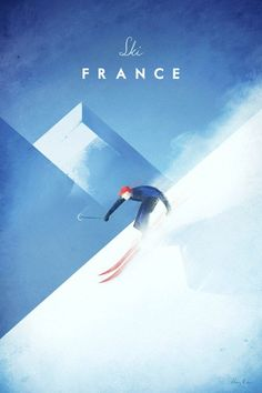 Vintage Ski France Poster by Henry Rivers Ski Vintage, Vintage Ski Posters, Retro Posters, Buy Posters, Ski France, France Travel, Spain Travel, Mexico Travel, France Art