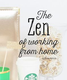 The Zen of Working from Home (and how to create more of it). Here are three ways to improve your stay home business on Marketing Creativity by Lisa Jacobs working from home, work from home #workfrommhome