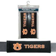Auburn Tigers Velour Seat Belt Pads
