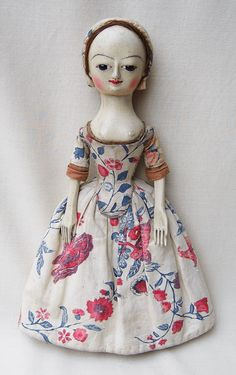 Reproductions and Restorations of and Century English Wooden Dolls. Wooden Dolls, Doll Maker, Screen Shot, Old And New, 18th Century, Restoration, Old Things, Miniatures, Christmas Ornaments