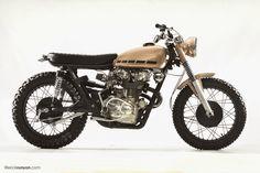 "Racing Cafè: Honda CB 450 1971 ""Copper"" by Steel Bent Customs"