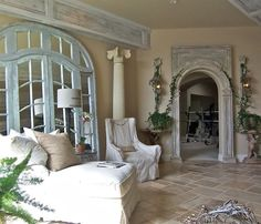 French Country Living Room, French Country Cottage, French Country Style, French Farmhouse, French Country Interiors, Country Farmhouse, Country Chic, French Style Homes, Country Style Homes