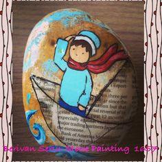 Sailor boy Stone painting
