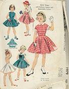 An original ca. 1955 McCall's Pattern 1979.  Girls' Dress with Petticoat, Bolero Jacket, and Detachable Collars.