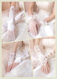 Guantes elegantes para coincidir el vestido de novia.
