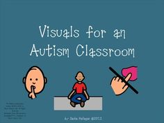 Visuals for an Autism Classroom {includes over 40 visuals, visuals to label items and areas and prompt visuals are included}