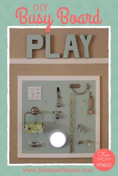 Busy Board for babies and toddlers. Great sensory toy for toddlers and keeps them busy! Great for a playroom or a kids room.