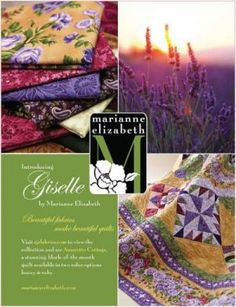"""Classic florals with a modern edge...RJR Fabrics """"Giselle"""" designed by Marianne Elizabeth"""
