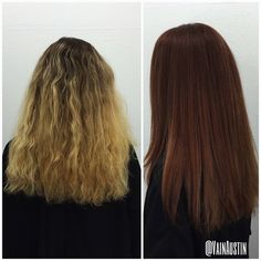 Color and BlowOut by Emily #beforeandafter #hair #redhead #redhair #copperhair #haircolor  #ombre #btconeshot_color #btconeshot_hairpaint #btconeshot_ombre #btconeshot_thelook #btconeshot_texture  #btcpics #behindthechair #modernsalon #kevinmurphy #sombre #summerhair #schwartzkopf #waves #wella #wellahair #wellafreelites @modernsalon @schwarzkopfpro @schwarzkopfusa  #vain #vainsalon #vainaustin #austin #austinhair #austinhairstylist