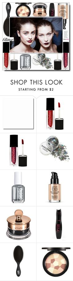"""""""So Sparkly: Glitter Lips"""" by itshandra ❤ liked on Polyvore featuring beauty, Essie, White Label, Pat McGrath and glitterlips"""