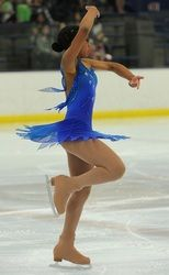 Ice skating Dress Photos Images - Sk8 Gr8 DesignsCustom Competition Figure Skating Dress. This hand-painted and airbrushed blue dress was made for an Avatar freeskate, and the mesh was custom dyed to match the skater's skin tone.